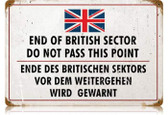 Vintage-Retro British Sector Metal-Tin Sign