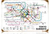 Vintage-Retro Tokyo Subways Metal-Tin Sign