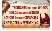 Vintage-Retro Character is Everything Metal-Tin Sign