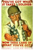 Vintage-Retro Uncle Sam Soldier Metal-Tin Sign
