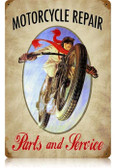 Vintage-Retro Motorcycle Repair Metal-Tin Sign