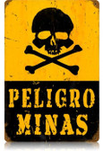 Vintage-Retro Peligro Minas Metal-Tin Sign