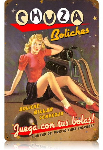 Vintage-Retro Chuza - Pin-Up Girl Metal Sign -