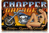 Vintage-Retro Chopper Garage Metal-Tin Sign