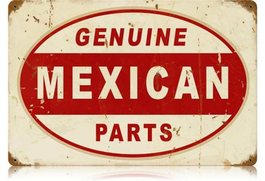 Vintage-Retro Mexican Parts Metal-Tin Sign