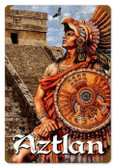 Vintage-Retro Aztlan Metal-Tin Sign