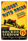 Vintage-Retro Midget Auto Races Metal-Tin Sign