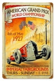 Vintage-Retro American Grand Prix Metal-Tin Sign