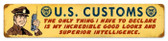 Vintage-Retro US Customs Metal-Tin Sign