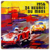 Vintage-Retro 24 Heures Dumans Metal-Tin Sign