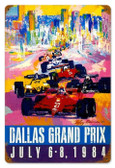 Vintage-Retro Dallas Grand Prix Metal-Tin Sign