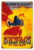 Vintage-Retro France Grand Prix Metal-Tin Sign