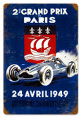 Vintage-Retro Grand Prix Paris Metal-Tin Sign