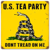 Vintage-Retro US Tea Party Metal-Tin Sign