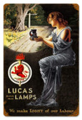 Vintage-Retro Lucas Lamps Metal-Tin Sign