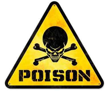 Retro Poison Triangle Tin Sign