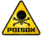 Vintage-Retro Poison Triangle Metal-Tin Sign