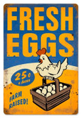 Vintage-Retro Fresh Eggs Metal-Tin Sign 3