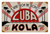 Vintage-Retro Cuba Kola Metal-Tin Sign