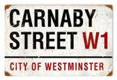 Vintage-Retro Carnaby Street Metal-Tin Sign