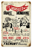 Vintage-Retro Snake vs Mongoose Metal-Tin Sign