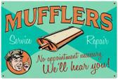 Vintage-Retro Muffler Service Metal-Tin Sign LARGE