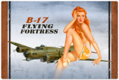 Vintage-Retro B-17 Redhead Metal-Tin Sign LARGE