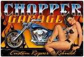 Vintage-Retro Chopper Garage Metal-Tin Sign LARGE