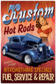 Vintage-Retro Kustom Hot Rods Metal-Tin Sign LARGE