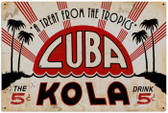 Vintage-Retro Cuba Kola Metal-Tin Sign LARGE