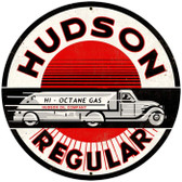 Vintage-Retro Hudson Regular Round Metal-Tin Sign