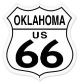 Vintage-Retro Oklahoma Route 66 Shield Metal-Tin Sign