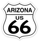 Vintage-Retro Arizona Route 66 Shield Metal-Tin Sign