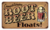 Vintage-Retro Root Beer Floats Metal-Tin Sign