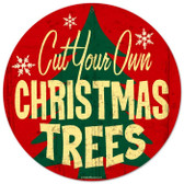 Vintage-Retro Christmas Trees Metal-Tin Sign