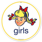 Vintage-Retro Girls Metal-Tin Sign
