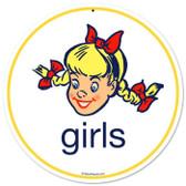 Vintage-Retro Girls Metal-Tin Sign