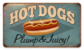 Vintage-Retro Hot Dogs Metal-Tin Sign 2