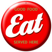 Vintage-Retro Eat Metal-Tin Sign