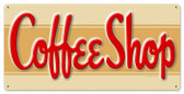Vintage-Retro Coffee Shop Metal-Tin Sign LARGE