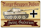 Vintage-Retro Panzer Gruppen Metal-Tin Sign - Personalized
