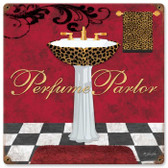 Vintage-Retro Perfume Parlor Metal-Tin Sign