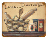 Vintage-Retro Seasoned with Love Metal-Tin Sign