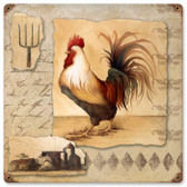 Vintage-Retro Rooster Pitchfork Metal-Tin Sign