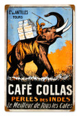 Vintage-Retro Cafe Collas Metal-Tin Sign