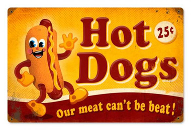 Vintage-Retro Hot Dogs Metal-Tin Sign