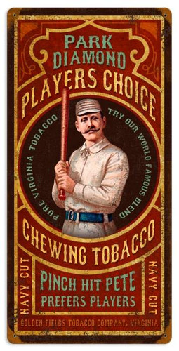 Personalized Street Signs >> Vintage Park Diamond Tobacco Metal Sign