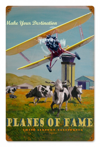 Vintage-Retro Planes of Fame Metal-Tin Sign
