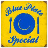 Vintage-Retro Blue Plate Metal-Tin Sign