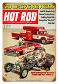 Vintage-Retro Hot Rod Magazine August 1970 Cover Metal-Tin Sign